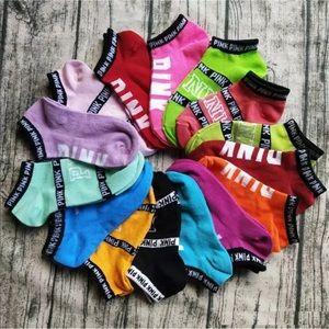 8 pairs of Victoria secret PINK socks mystery box